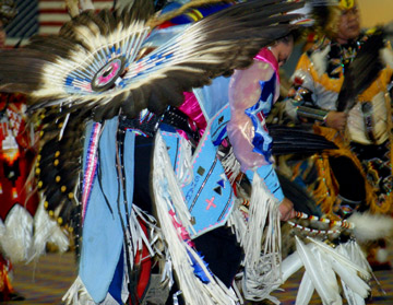 Pow wow dancer at Coeur d'Alene Casino in Worley Idaho