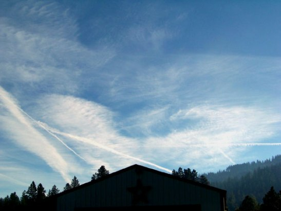 chemtrails over north idaho Oct. 6.
