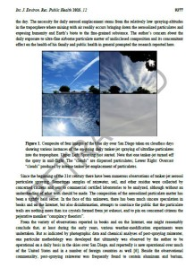 Scientific chemtrail study